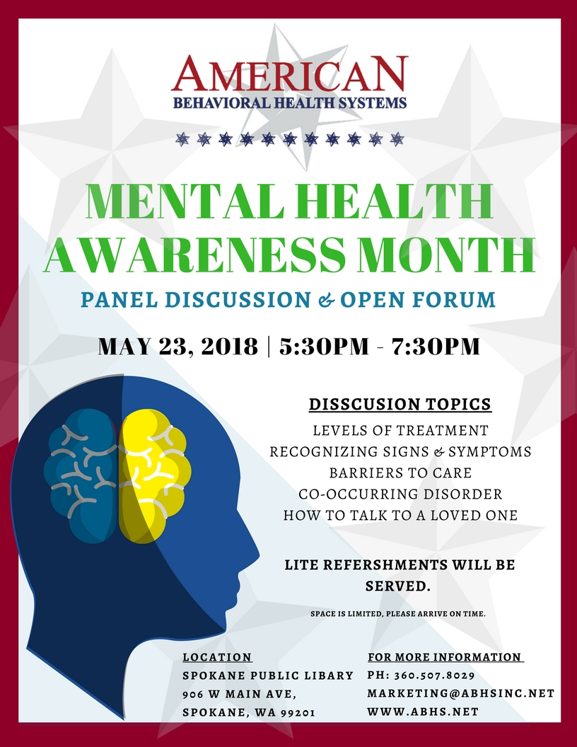 Spokane Mental Health Event - May